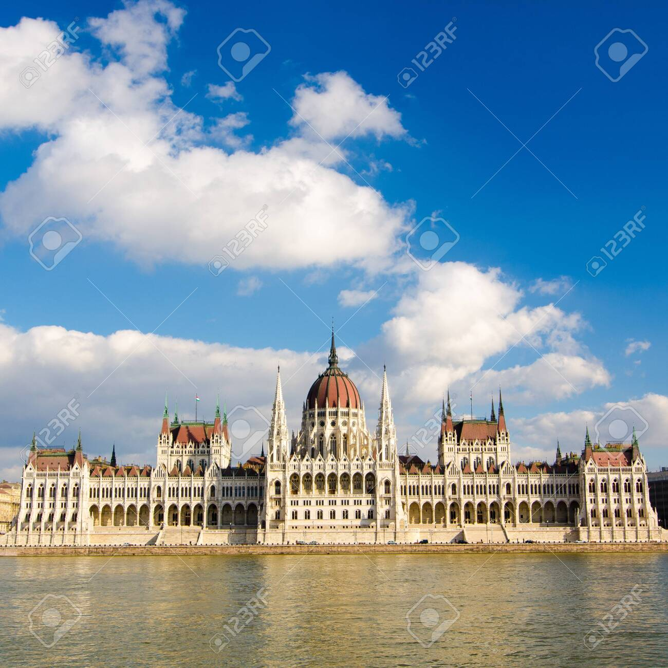 The Hungarian Parliament Building in Budapest, Hungary. - 145618827