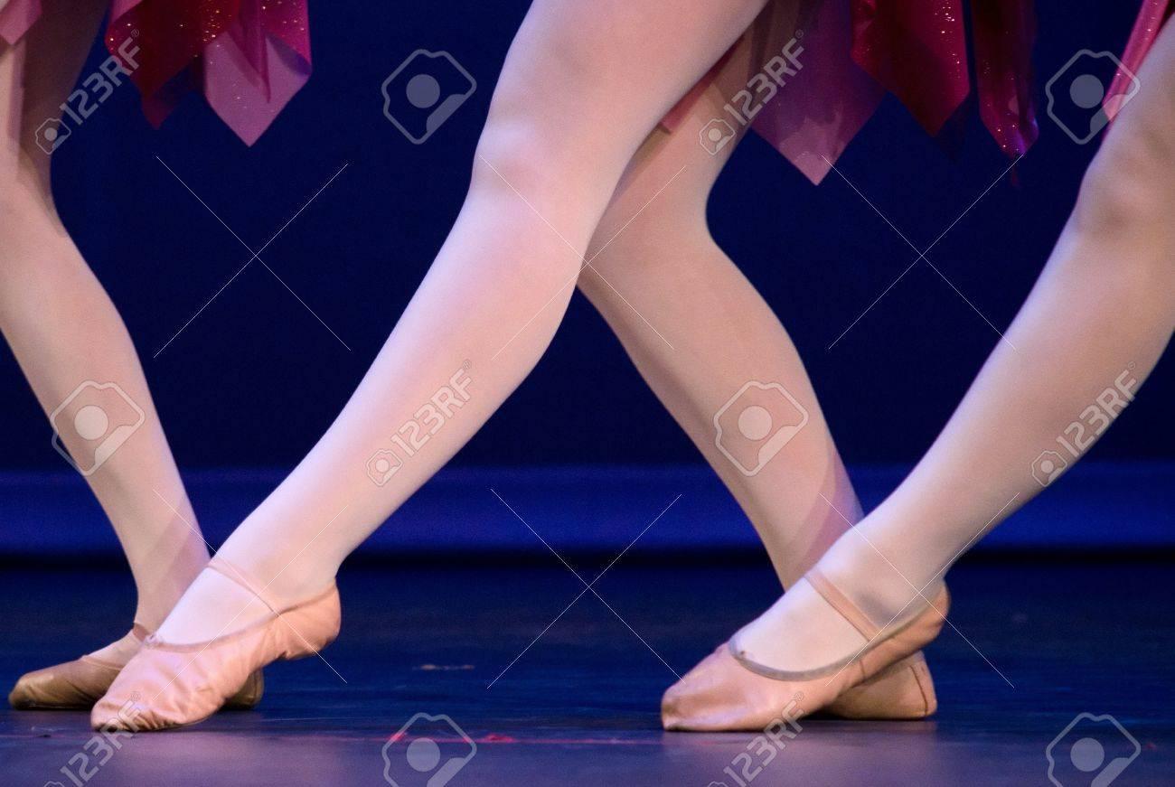 Big W made of feet of lyrical dancers Stock Photo - 17618013