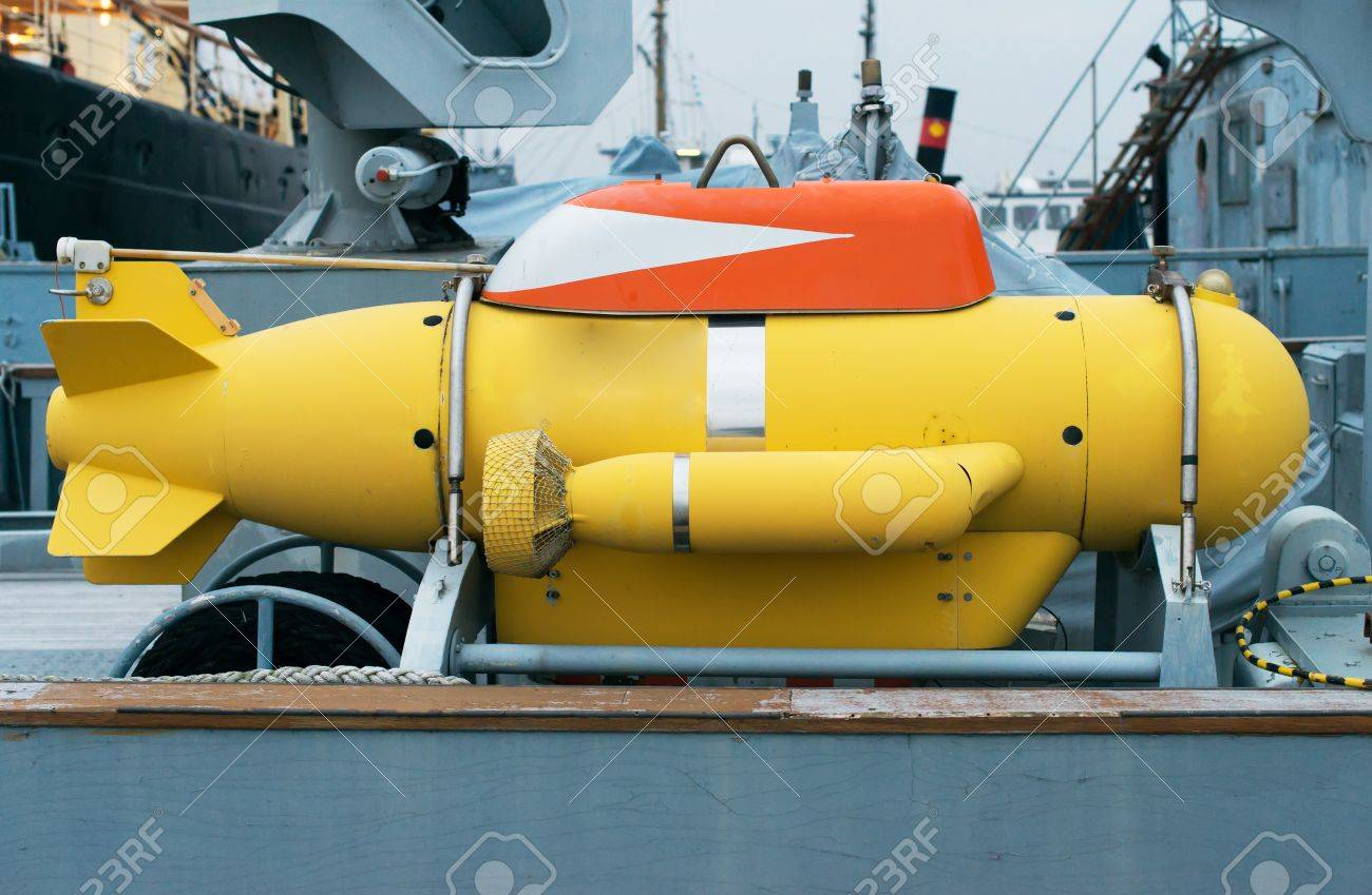 Unmanned underwater vehicle on the ship. - 50021212