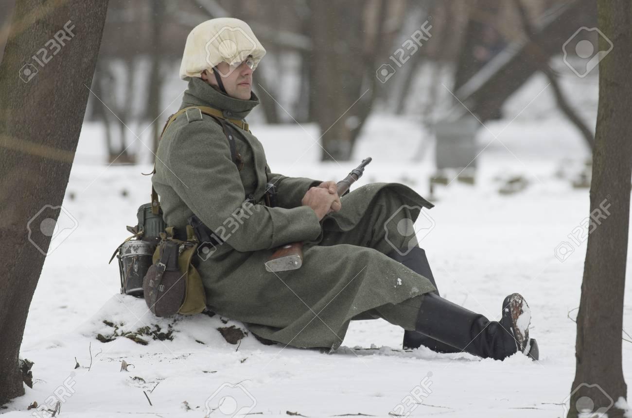 サンクトペテルブルク、ロシア - 2月23、2017:勤務中のドイツ国防軍の ...