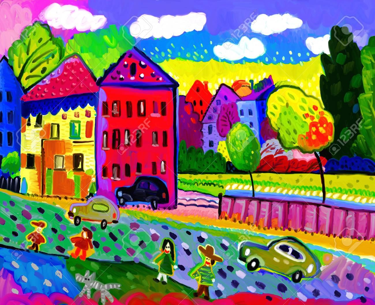 Urban landscape in autumn season - 20836389