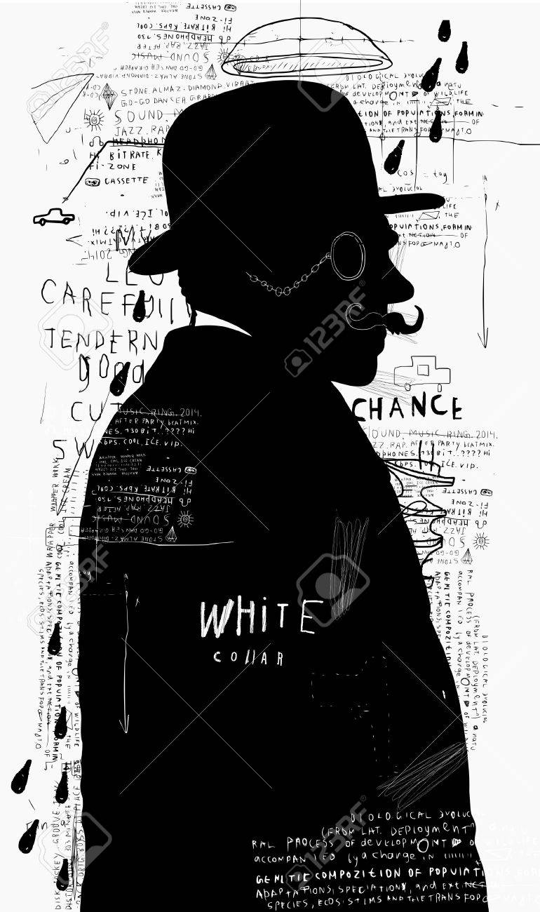 A man in a hat and pince-nez that stands alone - 27713650
