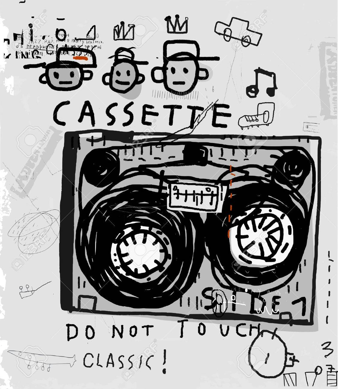 The symbolic image of an old audio cassette - 42538707