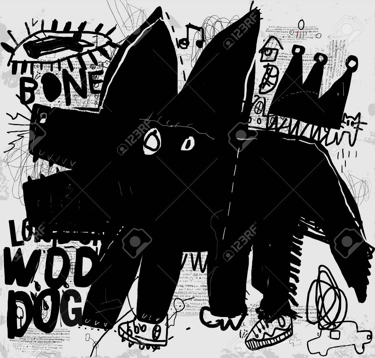 The symbolic image of a dog that barks - 50575234