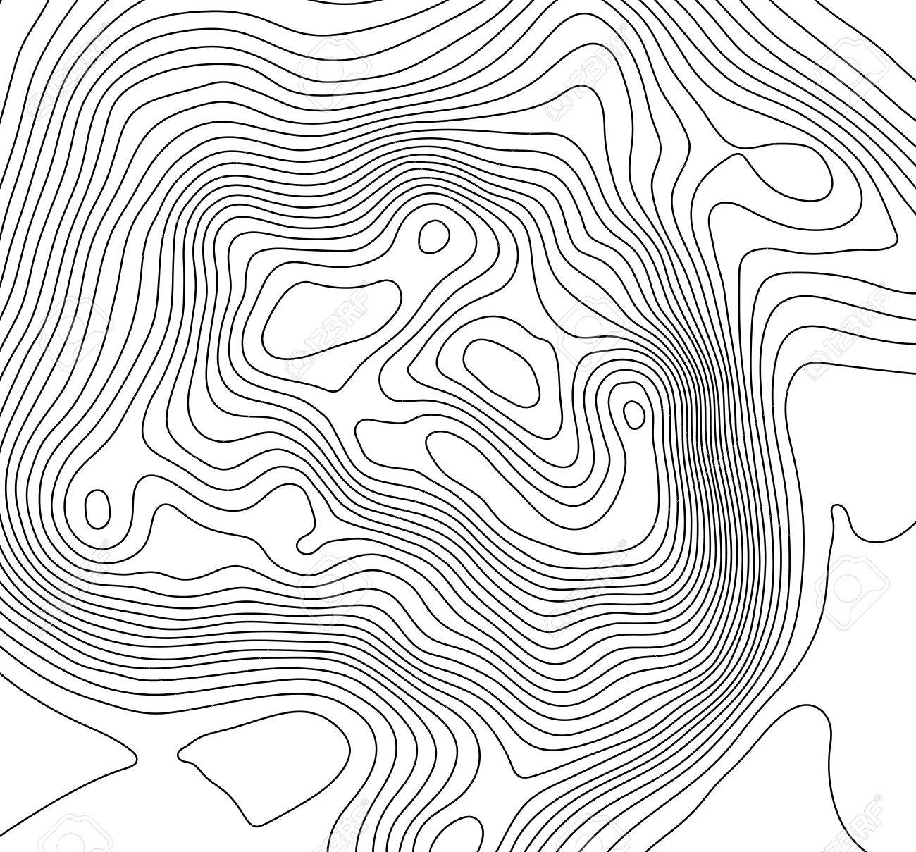 Topographic Map Mountain.Topographic Map Background Concept With Space For Your Copy