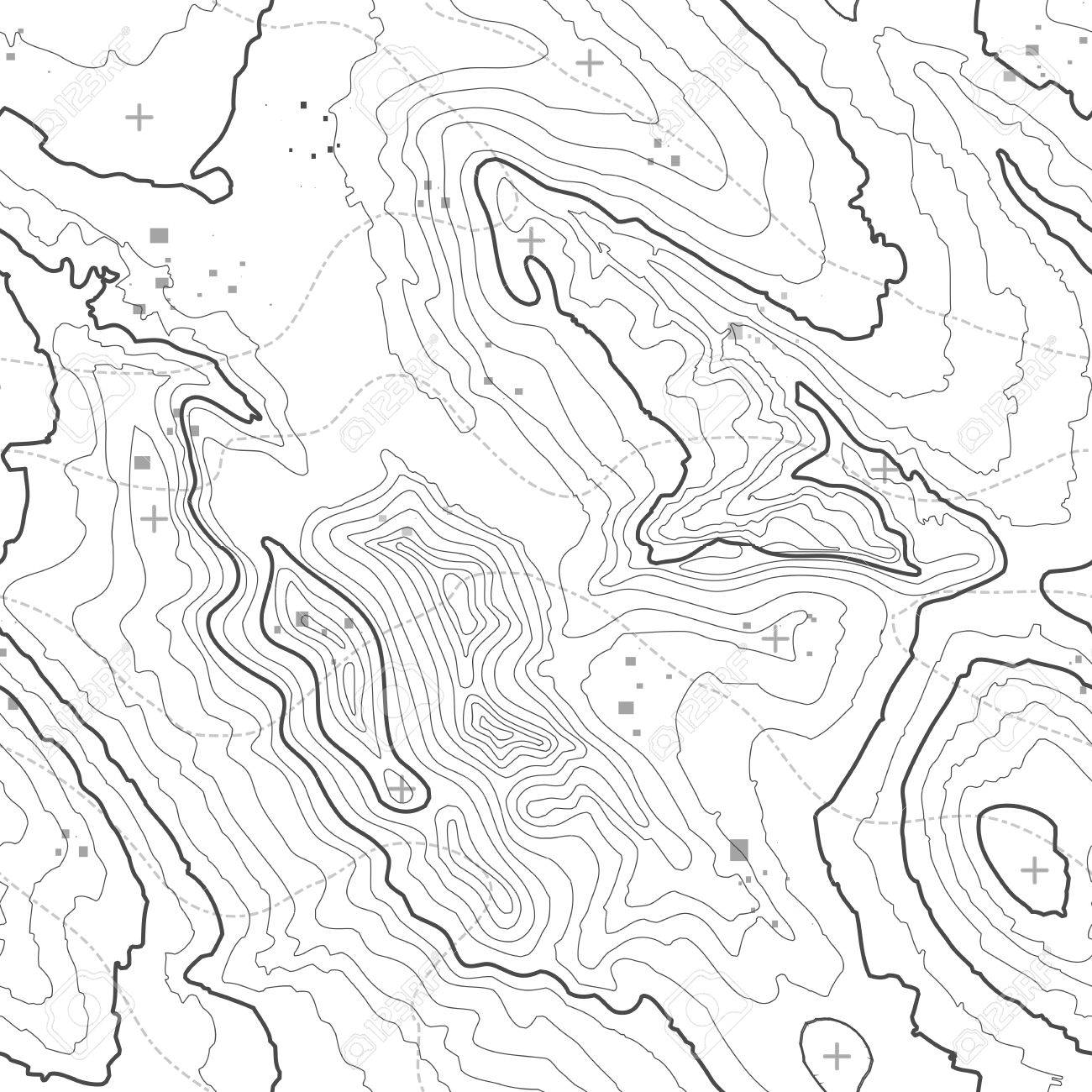 topographie karte Topographische Karte Hintergrund Konzept Mit Platz Für Ihre Kopie