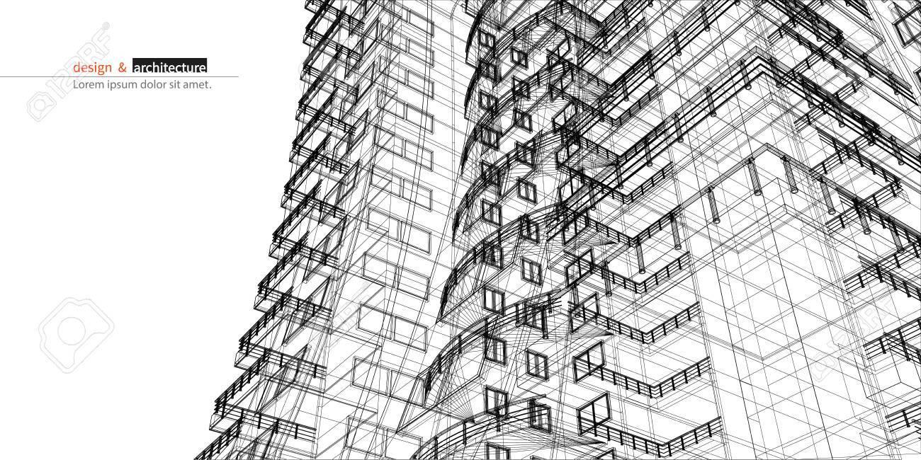 Rascacielos Urbanística. Resumen 3D De La Construcción De La ...