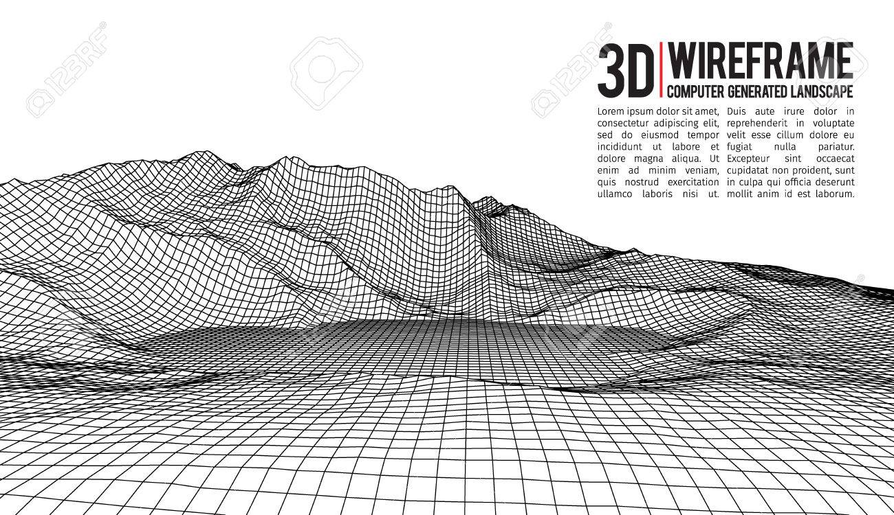 Wire Frame Vector - Clipart Vector Design •