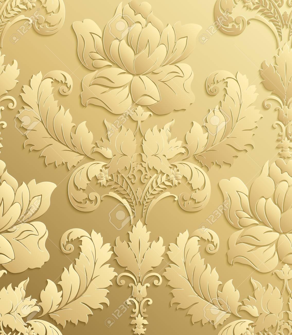 Carta Da Parati Stile Barocco.Vettoriale Carta Da Parati In Stile Barocco Vector Damasco Senza Soluzione Di Continuita Floreale Ornamento Rosa Image 80710911