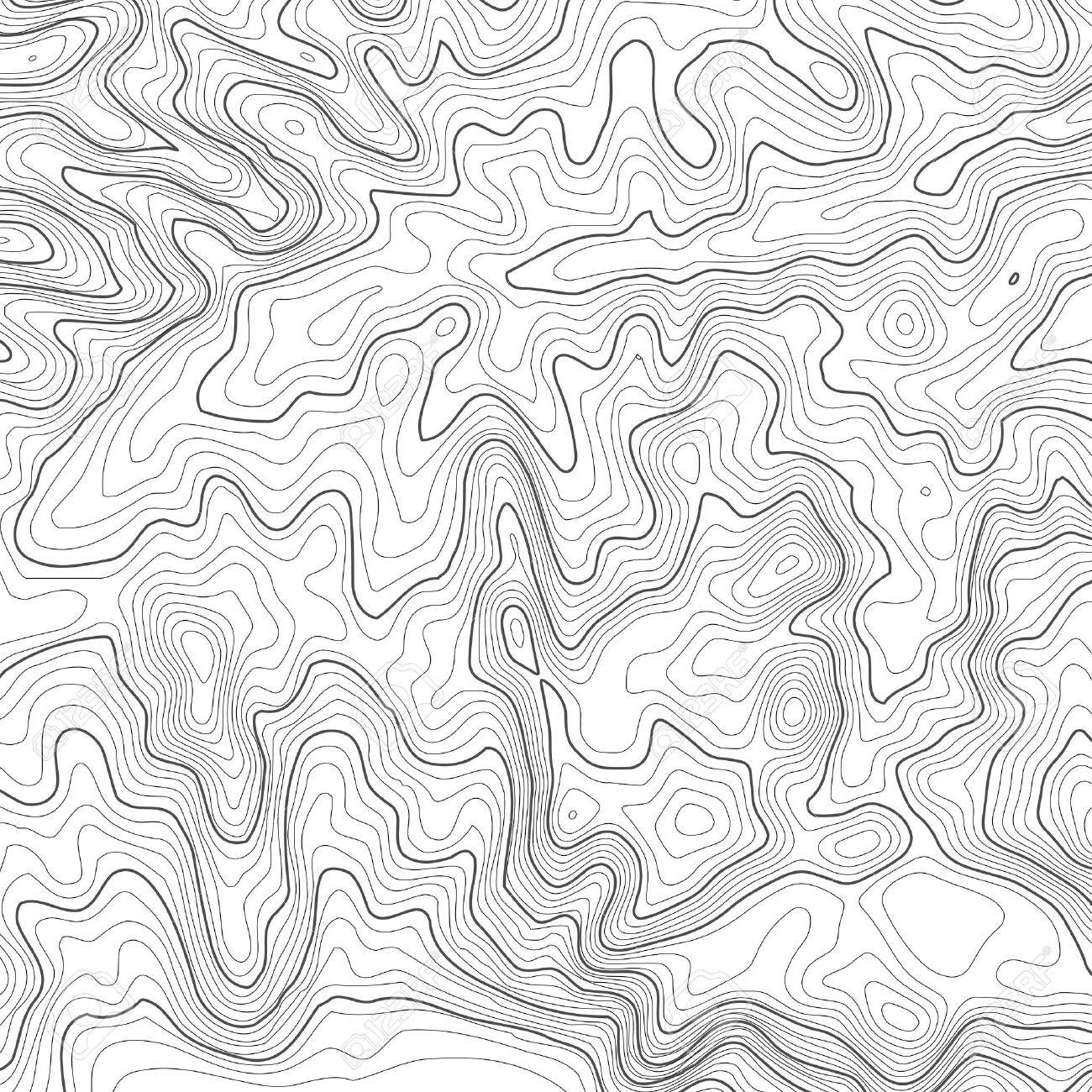 Topographic Map Vector Free.Topographic Map Background With Space For Copy Line Topography