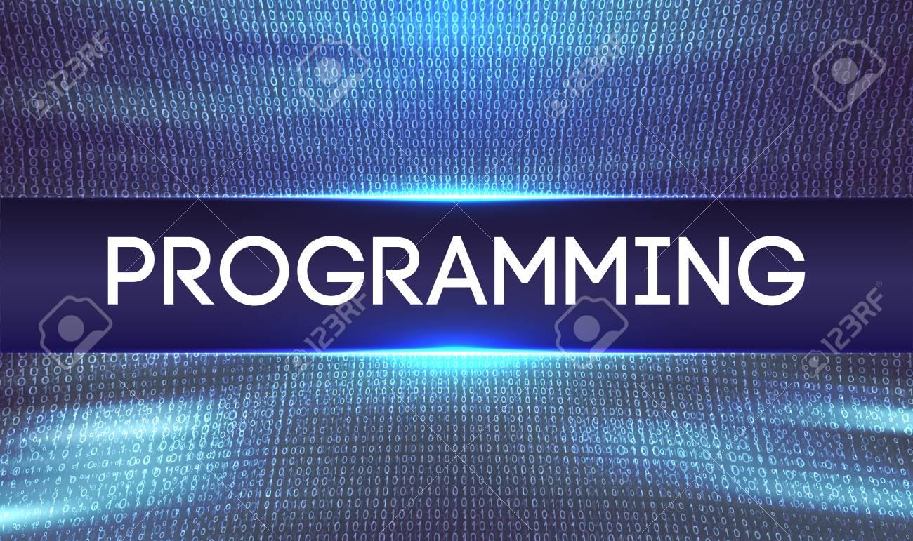 Programming code abstract technology background Web Developer