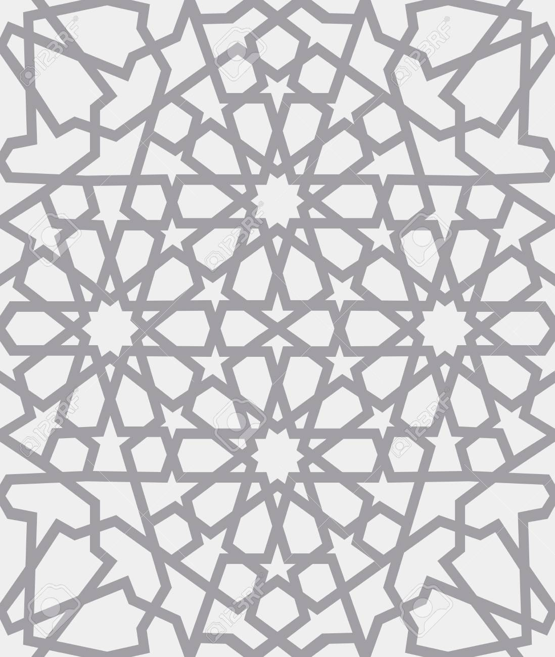 Islamic Pattern . Seamless Arabic Geometric Pattern, East Ornament, Indian  Ornament, Persian Motif