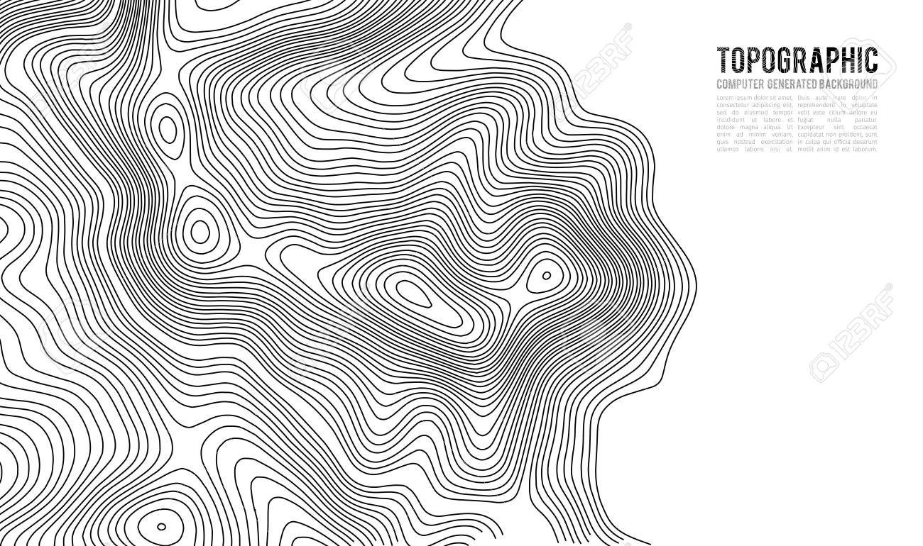 Topographic map contour background  Topo map with elevation