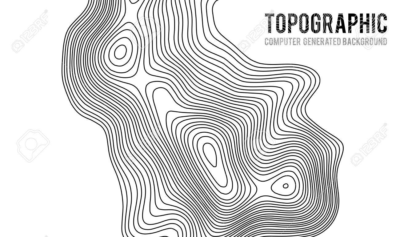 Topographic Map Contour Background. Topo Map With Elevation