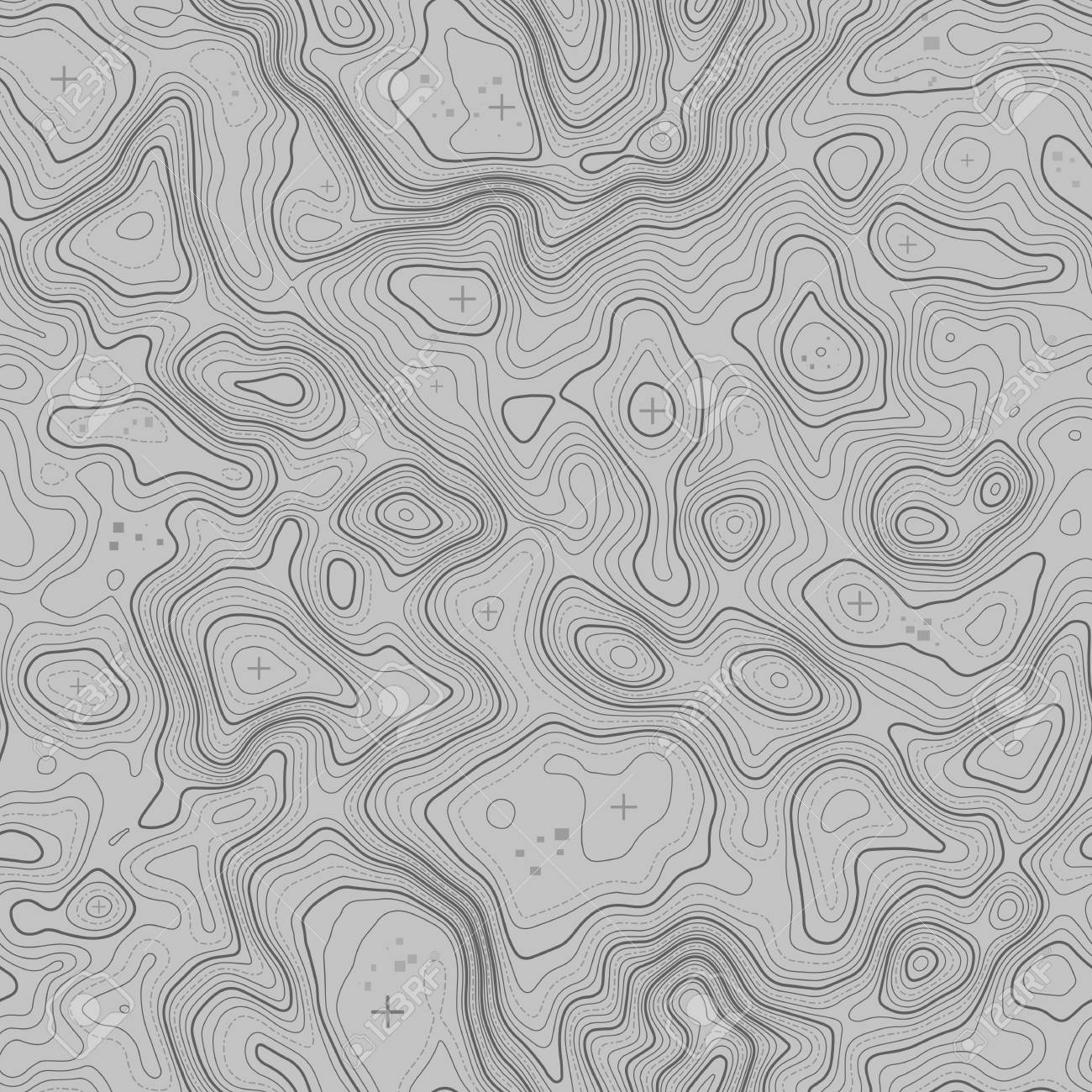 Seamless pattern  Topographic map background with space for copy