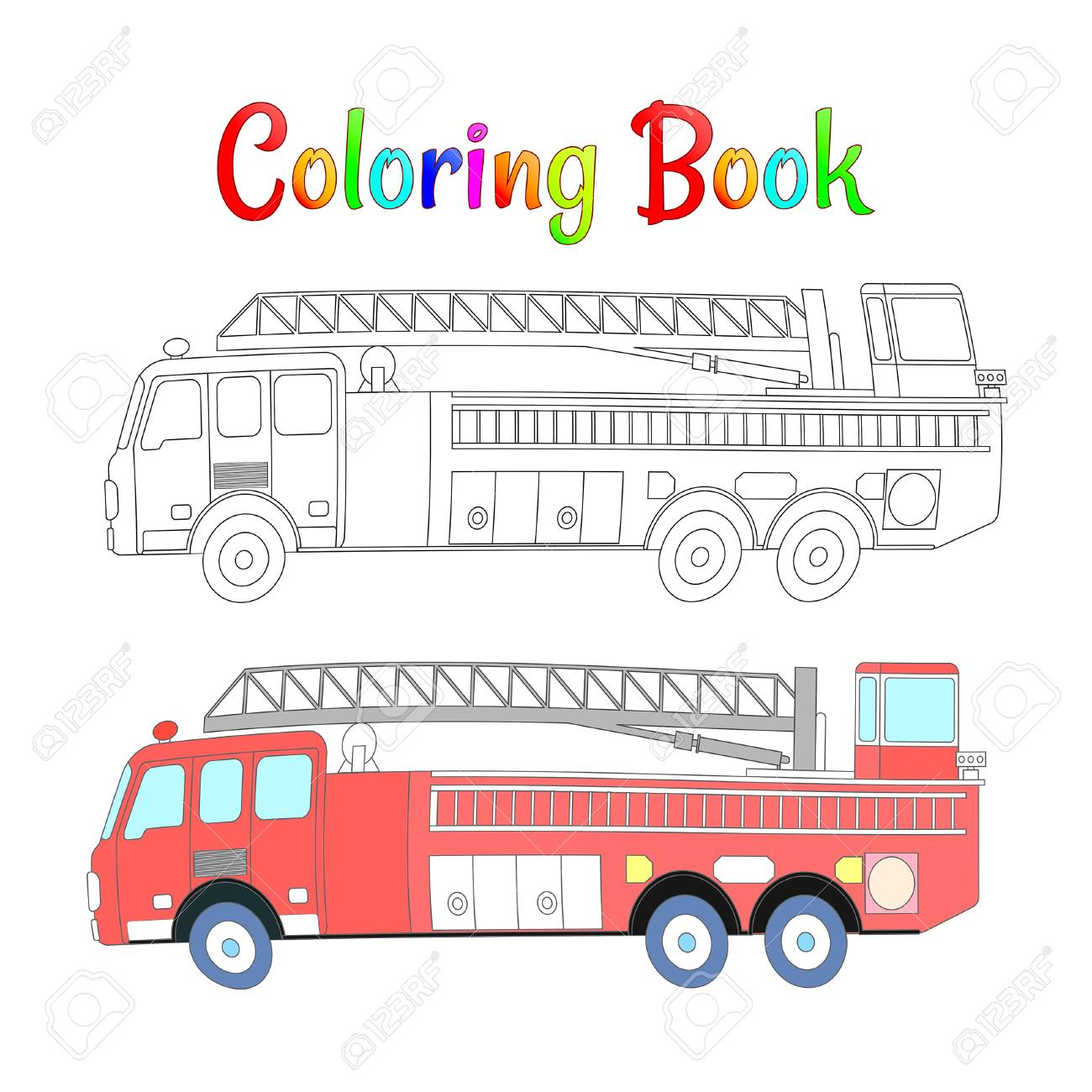 Coloring Pages For Kids With Toy Cars Royalty Free Cliparts ... | 1300x1300