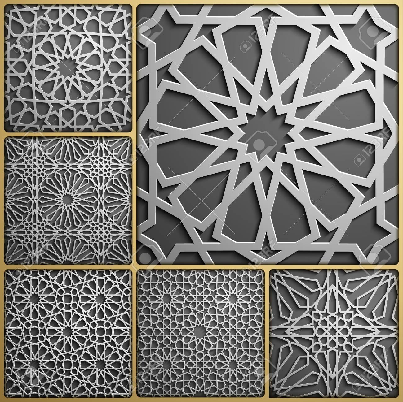 Islamic ornament vector , persian motiff   3d ramadan islamic