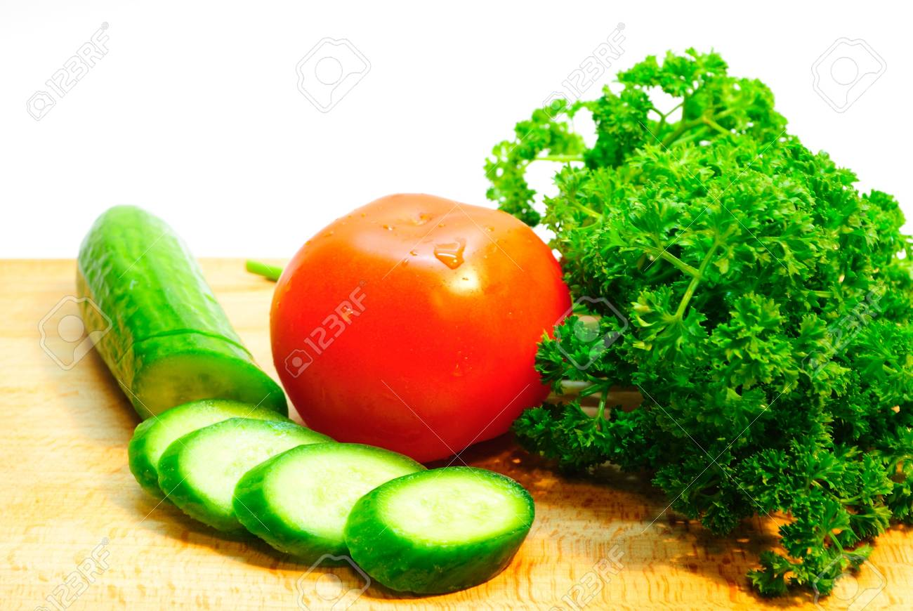 Tomatoes and cucumbers - 4388237
