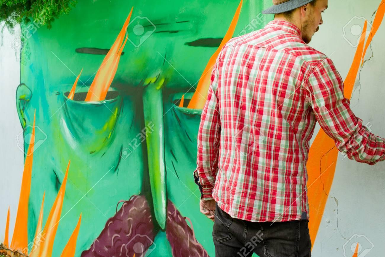 Graffiti on a wall. - 88296229