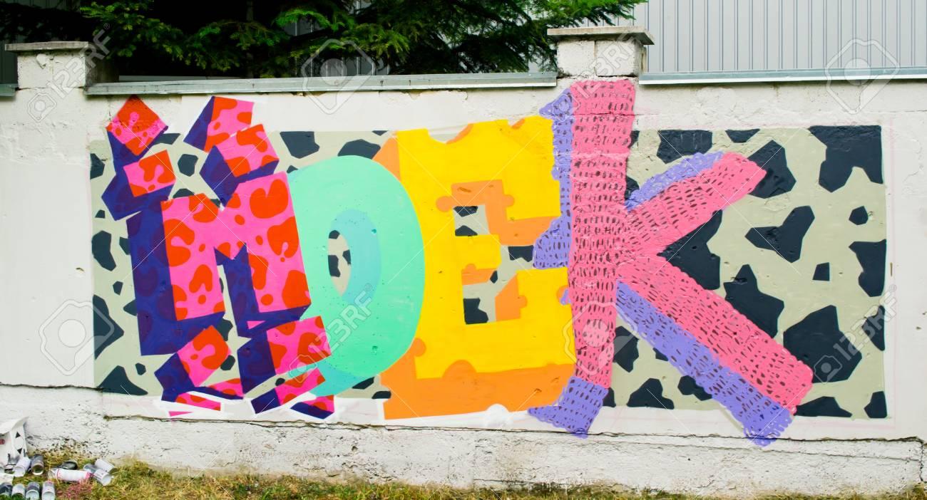 Graffiti on a wall. - 88296222