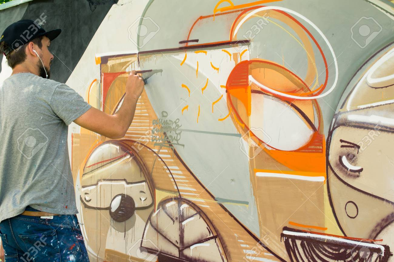 Graffiti on a wall. - 88296231