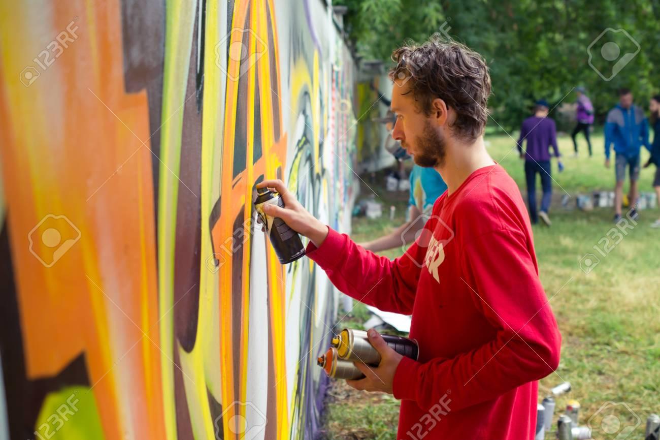 Graffiti on a wall. - 88296246