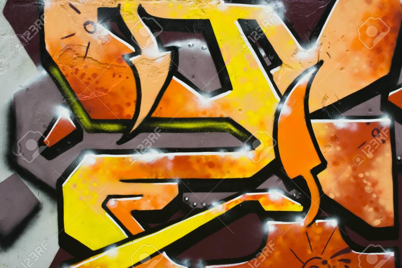 Graffiti on a wall. - 88296247