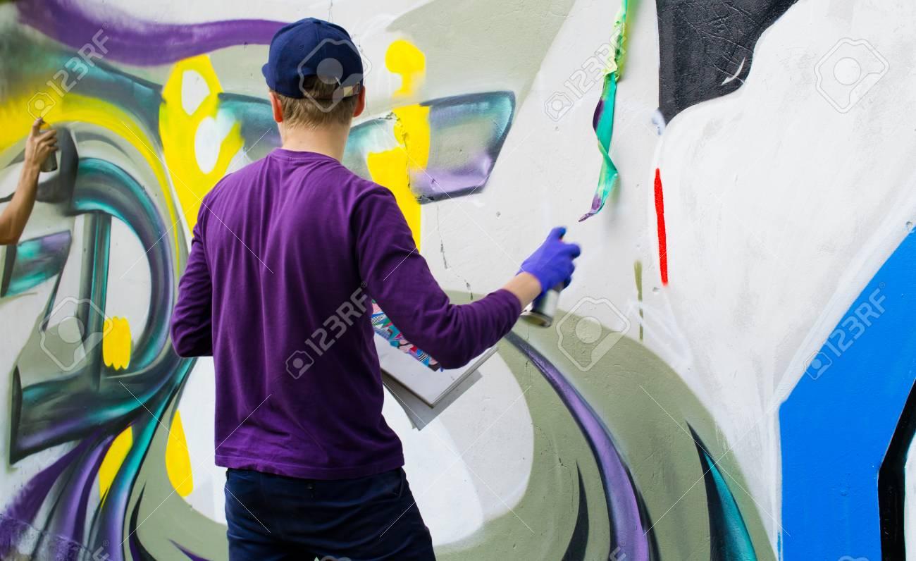 Graffiti on a wall. - 88296249