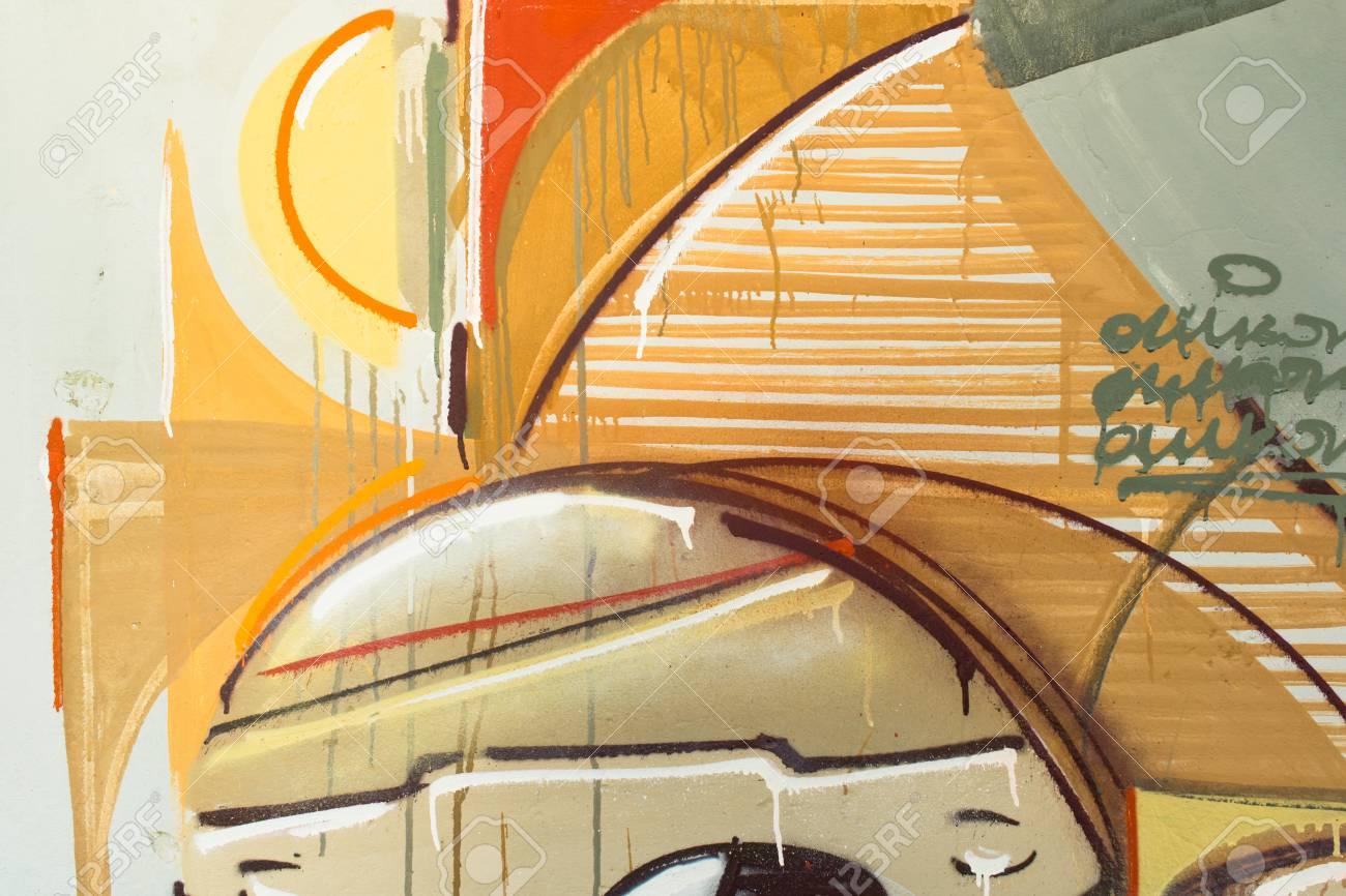 Graffiti on a wall. - 88296316