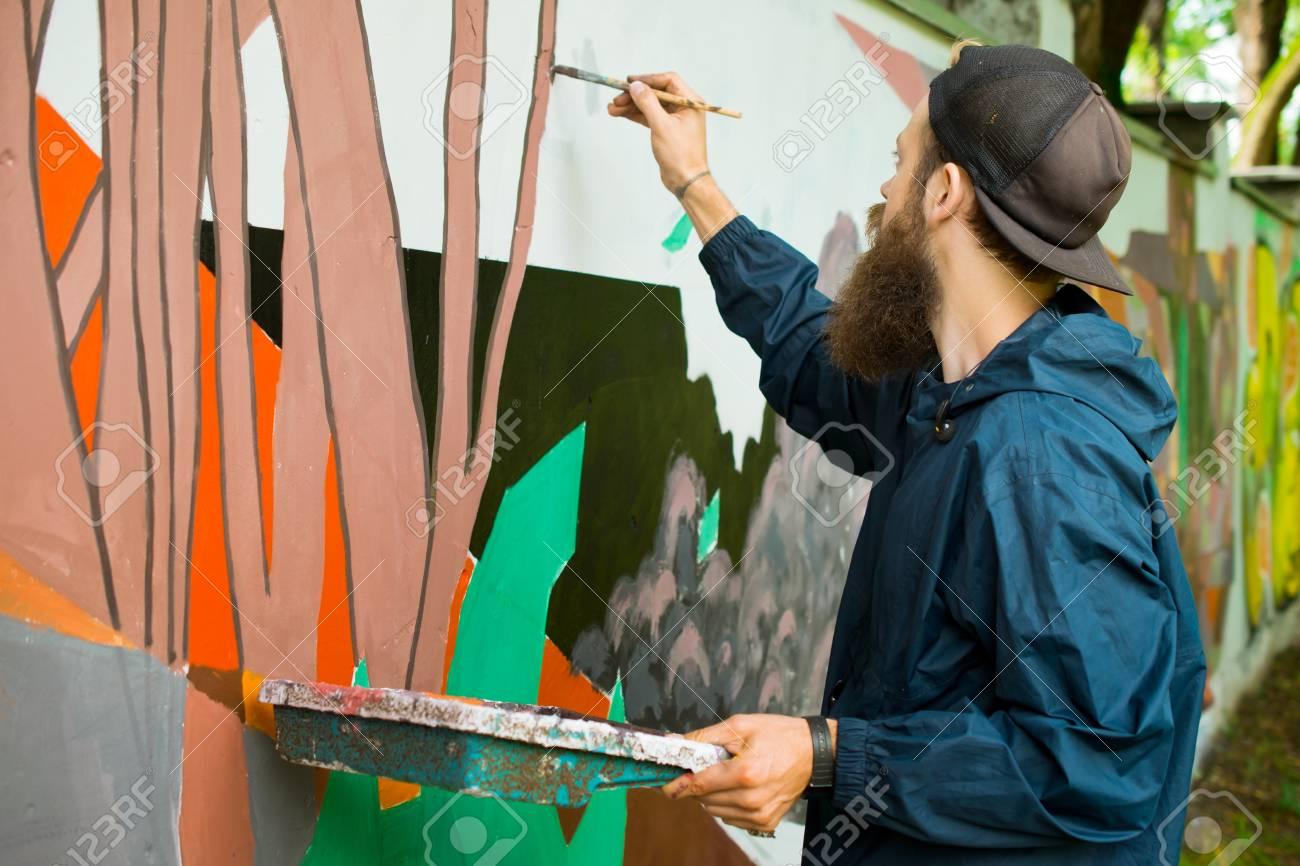 Graffiti on a wall. - 88296324