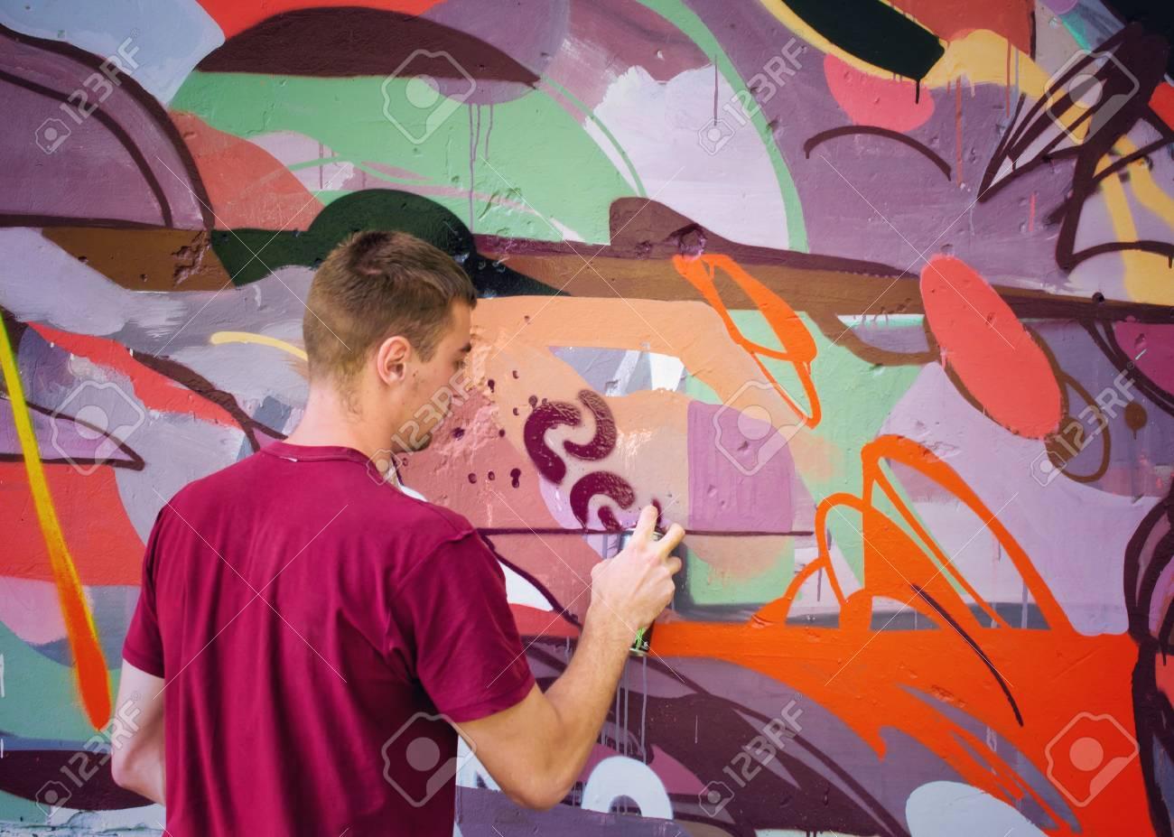 Graffiti on a wall. - 88296455