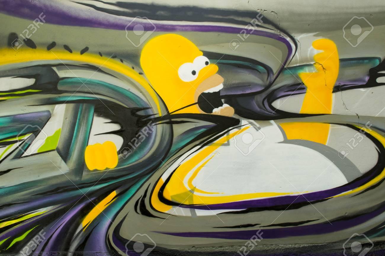 Graffiti on a wall. - 88296470