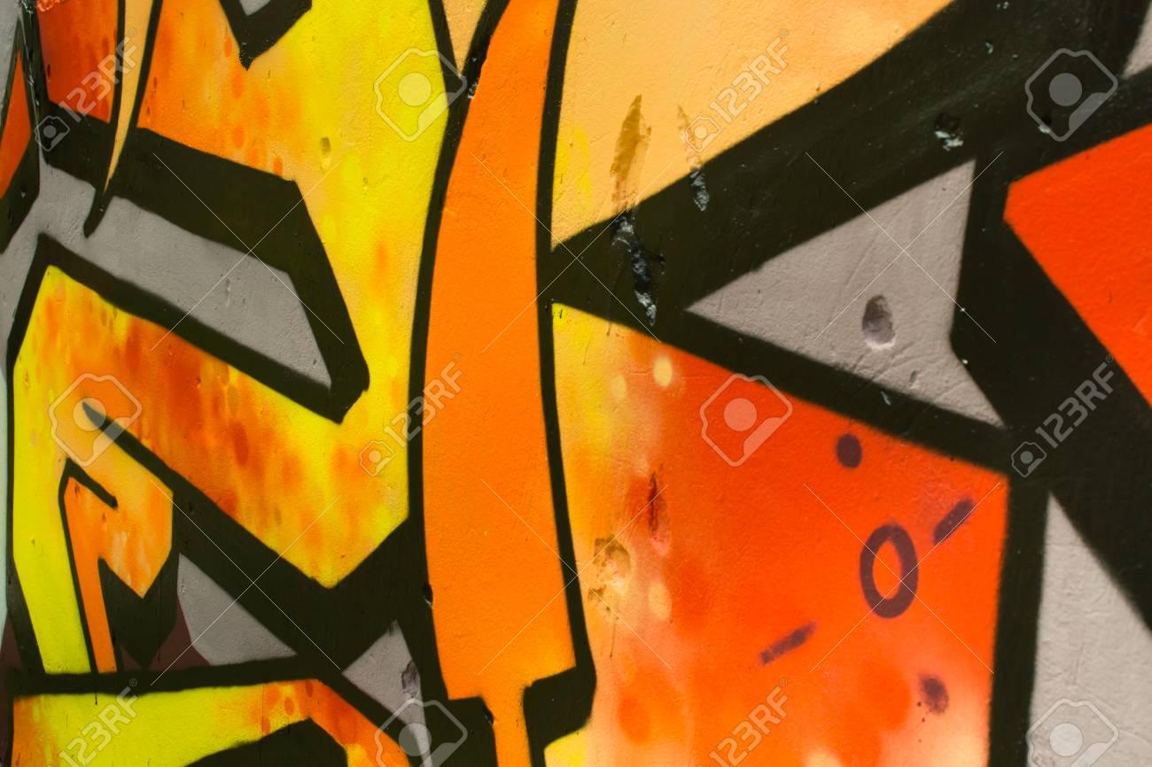Graffiti on a wall. - 88296485