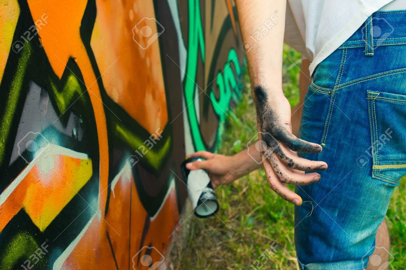 Graffiti on a wall. - 88296643