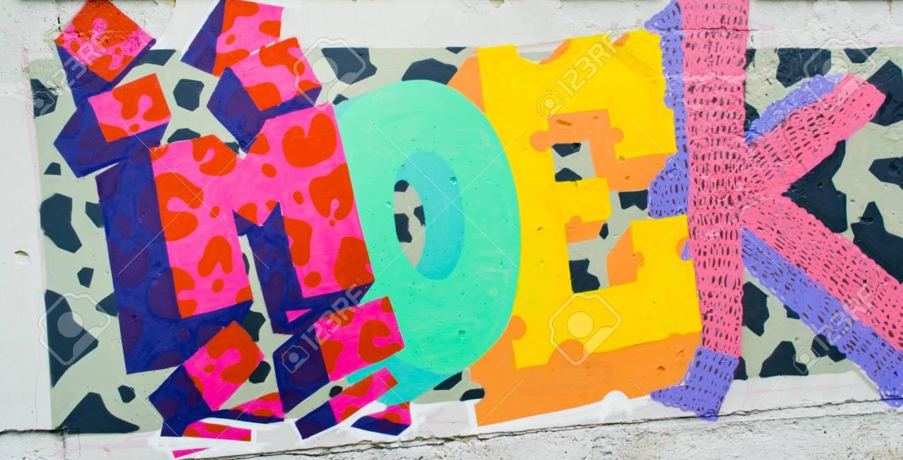 Graffiti on a wall. - 88296645