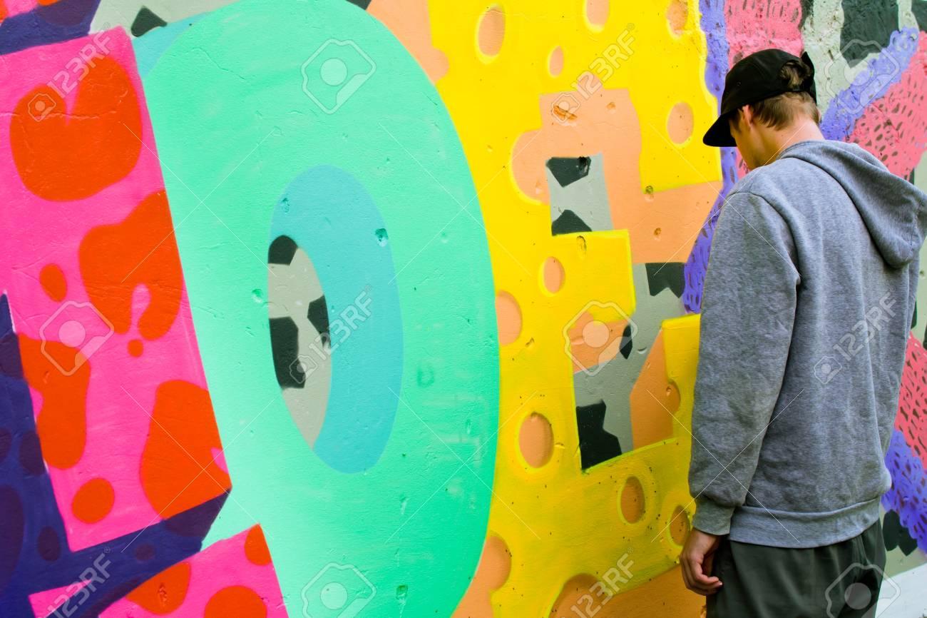 Graffiti on a wall. - 88296648