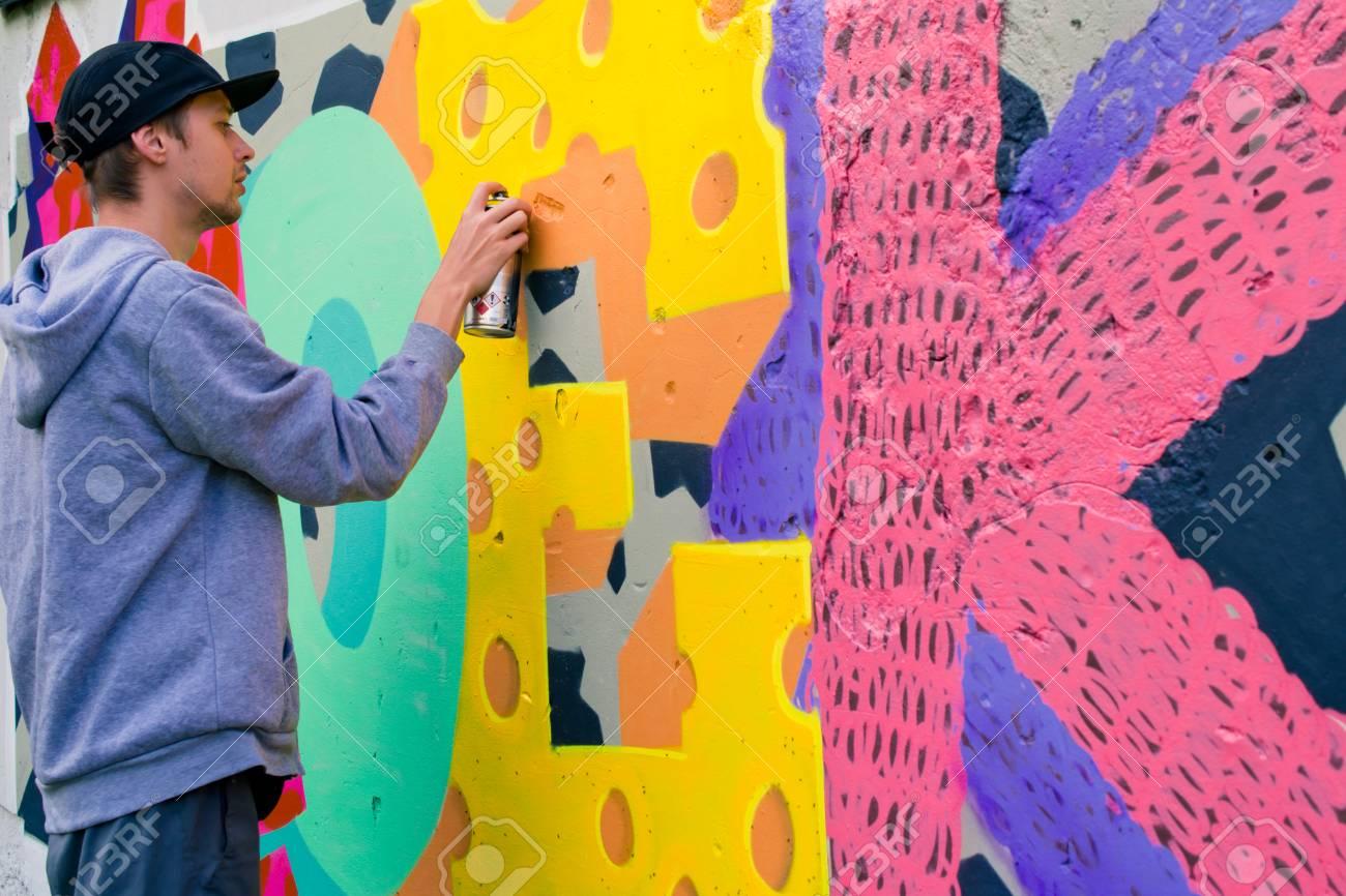Graffiti on a wall. - 88296652