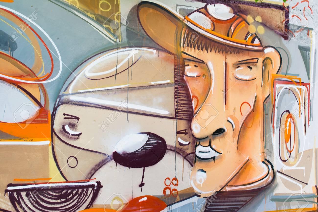 Graffiti on a wall. - 88296673