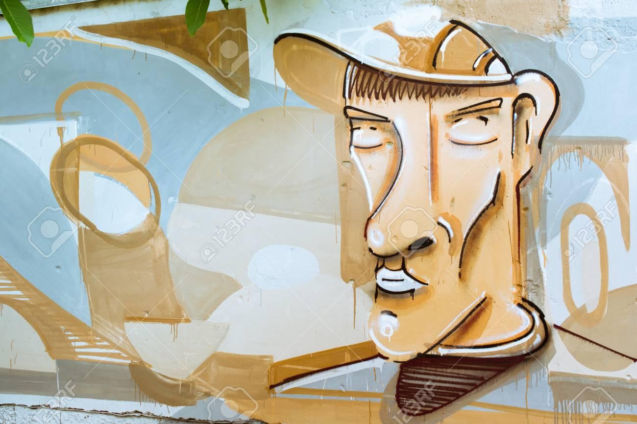 Graffiti on a wall. - 88296658