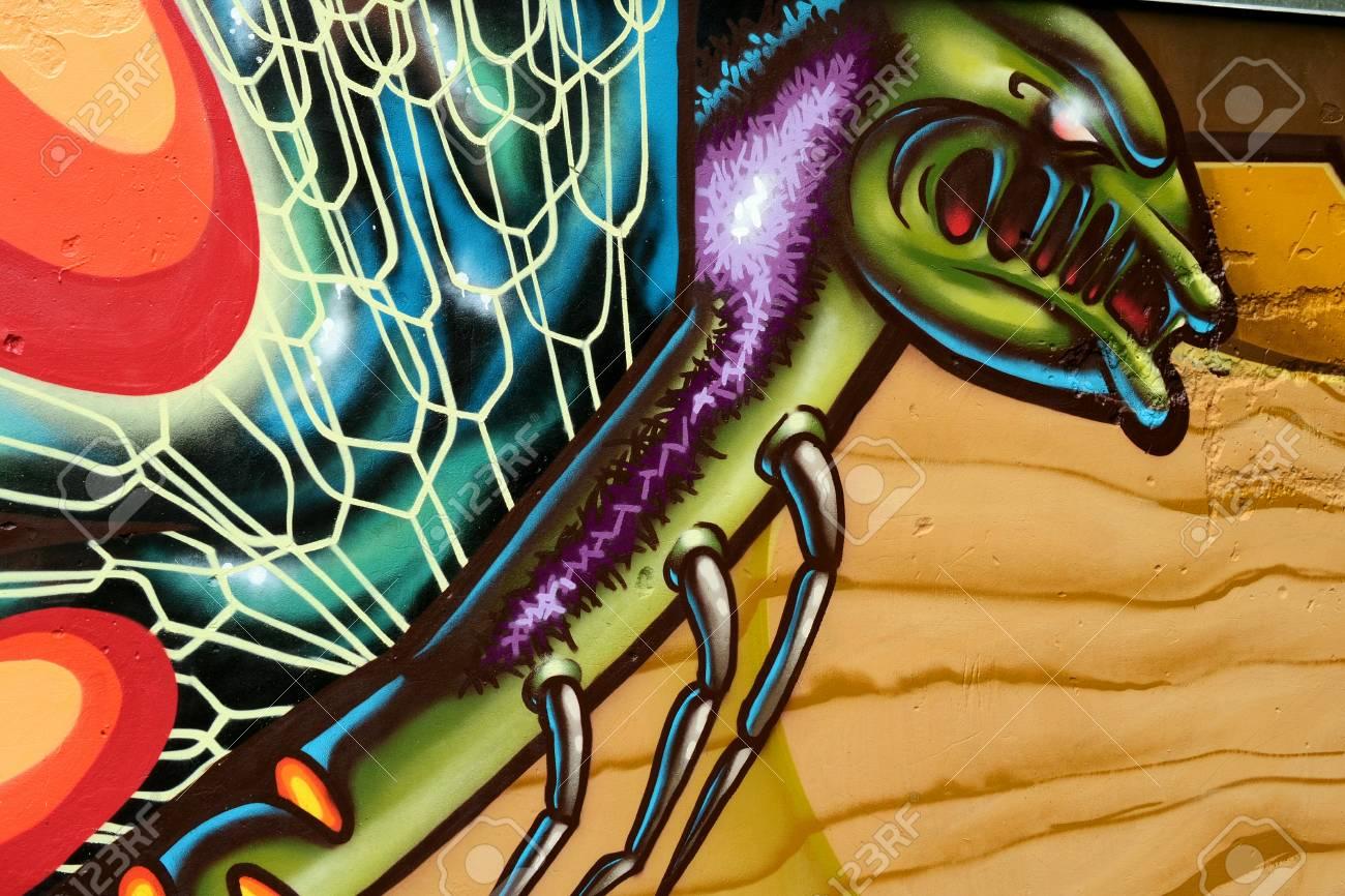 Graffiti on a wall. - 88296671