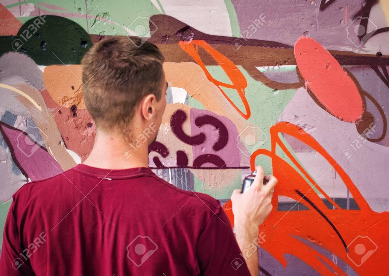 Graffiti on a wall. - 88297030