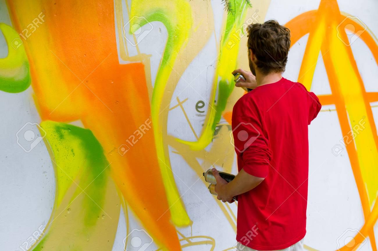 Graffiti on a wall. - 88297037