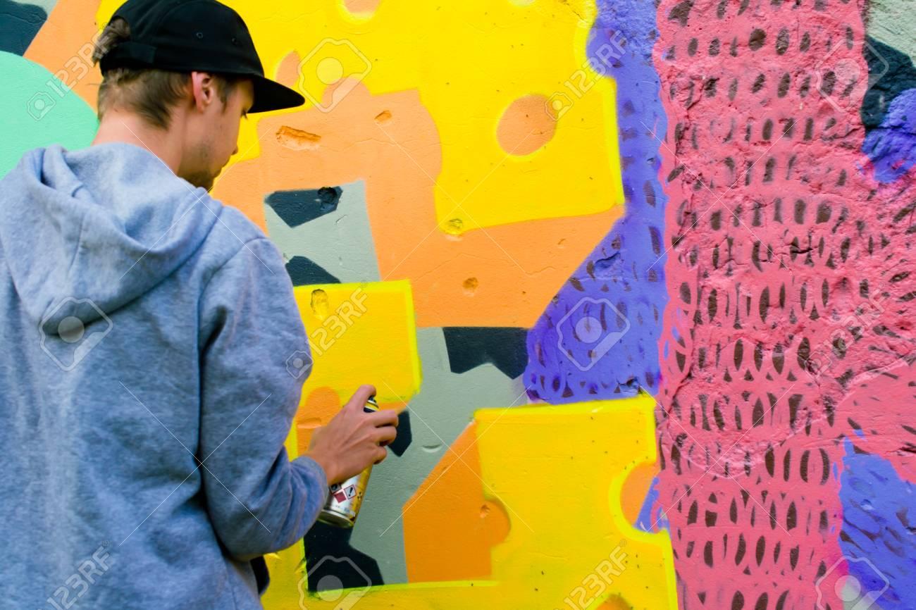 Graffiti on a wall. - 88297034