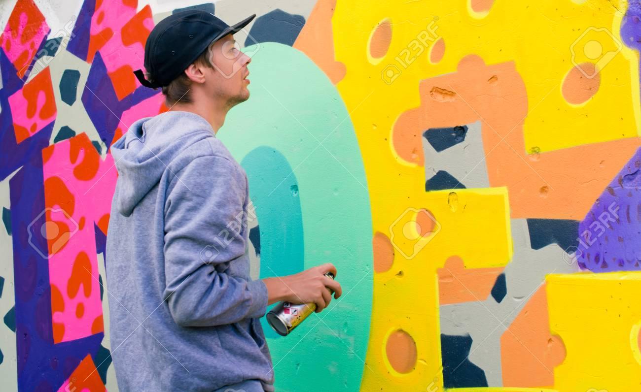 Graffiti on a wall. - 88297057