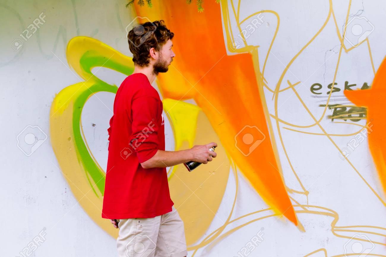 Graffiti on a wall. - 88297063