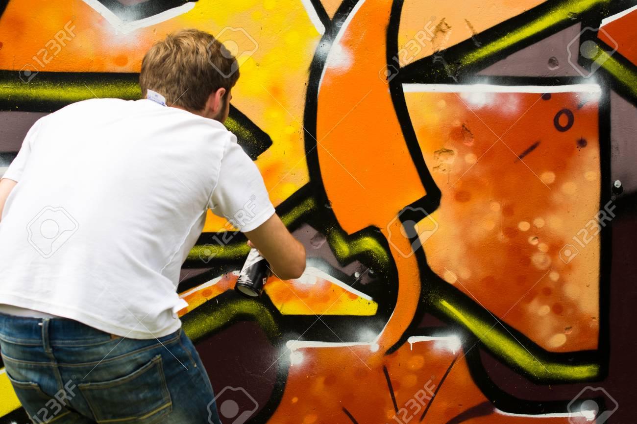 Graffiti on a wall. - 88297144