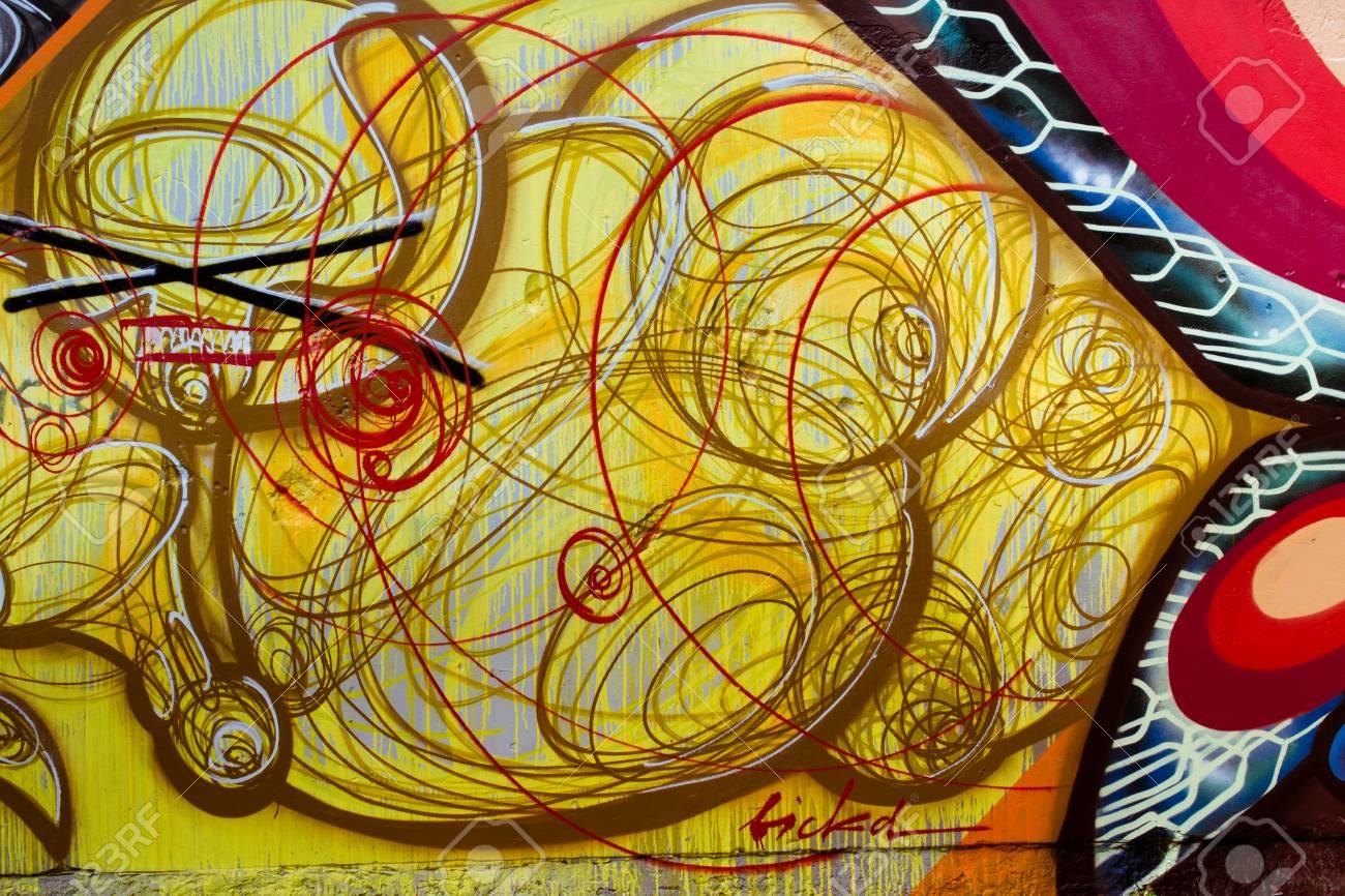 Graffiti on a wall. - 88297145