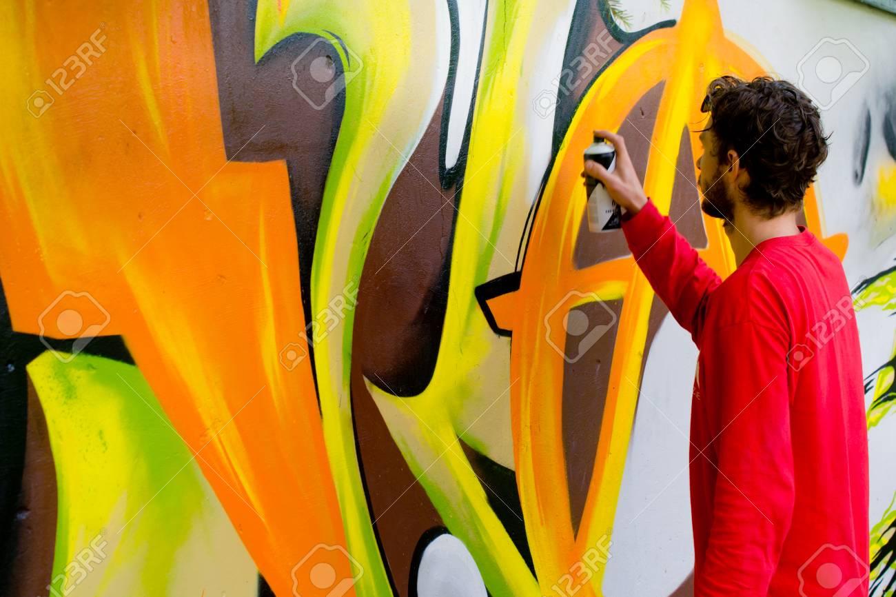 Graffiti on a wall. - 88297147