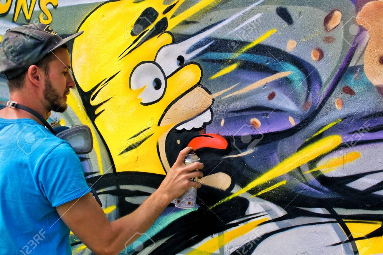 Graffiti on a wall. - 88297151