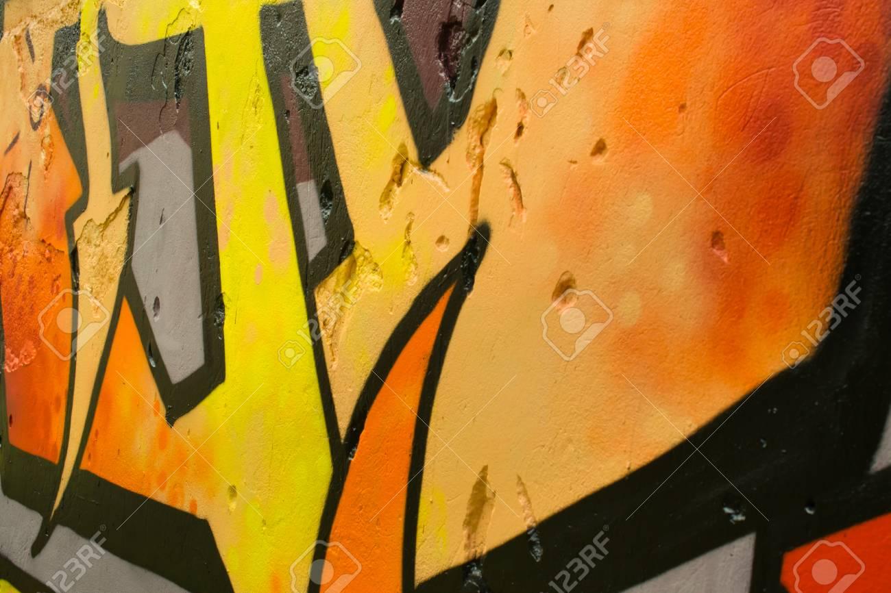 Graffiti on a wall. - 88297163